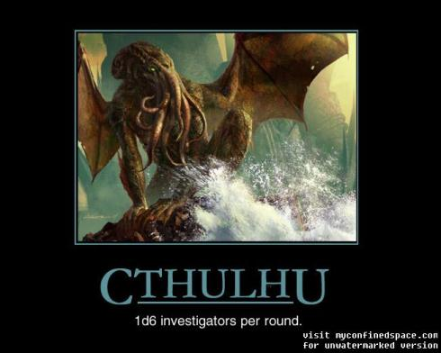 Cthulhu motivational poster