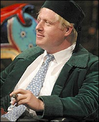 Boris Johnson in fez