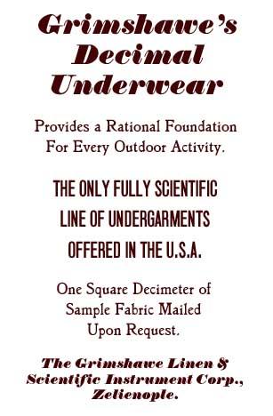 Grimshawe's Decimal Underwear