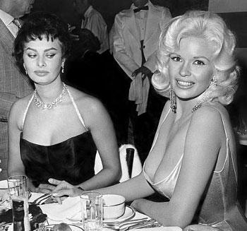 Sophia Loren and Jayne Mansfield are bosom buddies