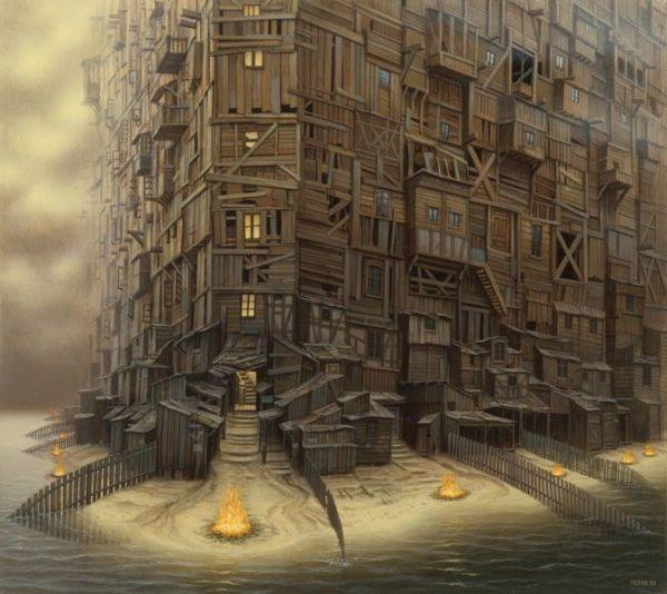 Jacek Yerka, New Age Manhattan