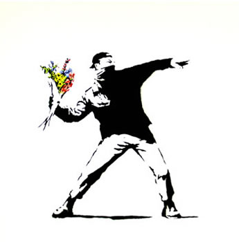 Banksy's bouquet