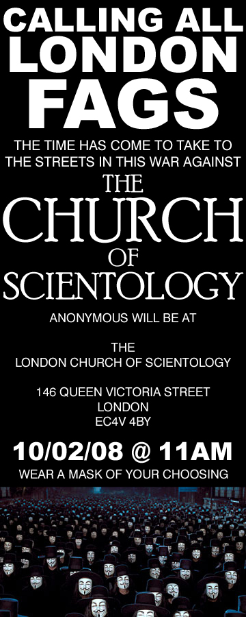 London Church of Scientology Demonstration