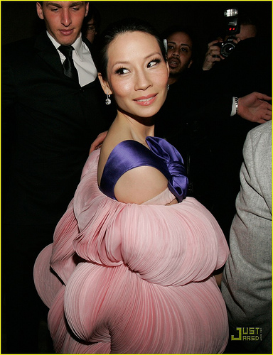 Lucy Liu and the Horny Cuttlefish of Doom, back attack