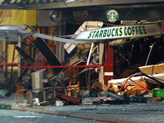 Starbucks Explosion, Broadway and Heather