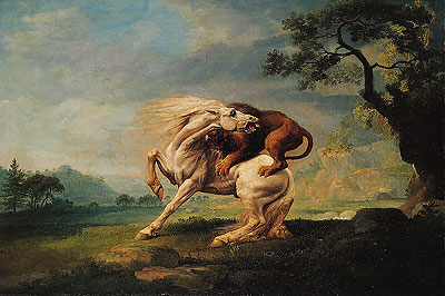 George Stubbs Lion Attacking Horse