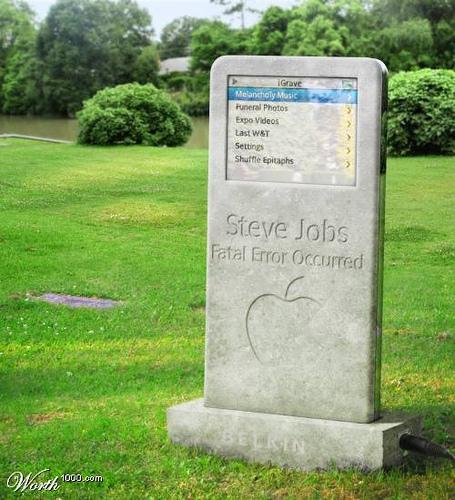 Steve Jobs' Grave. iDied.