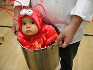 Baby Lobster, and doesn\'t she look pleased?