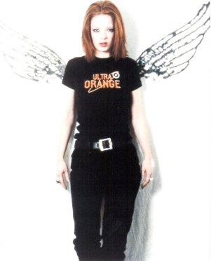 Shirley Manson wearing angel wings. She deserves them more