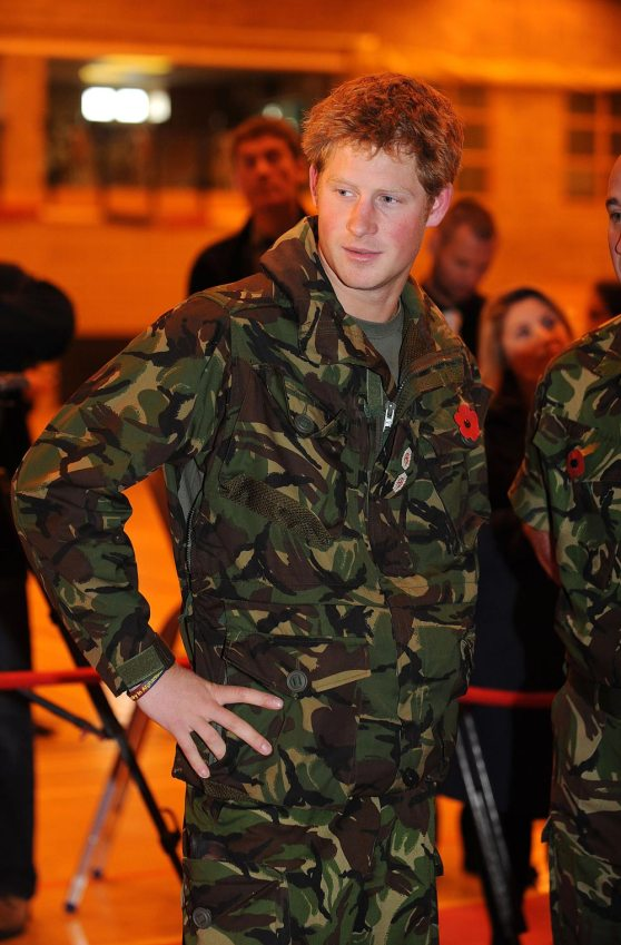Prince Hot Ginge in uniform