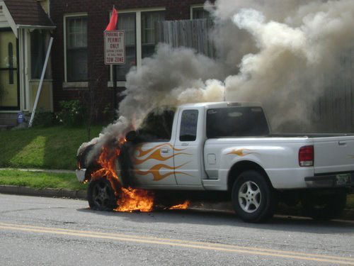 The flamers all drive pickups