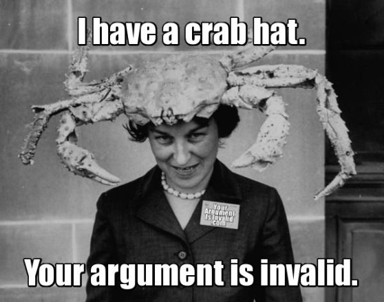 I have a crab hat