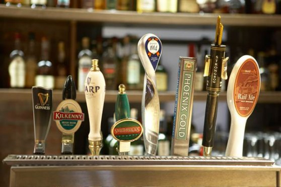 Shebeen beer taps, but where are the whisky taps?