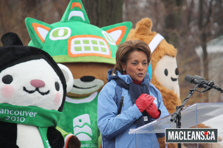 Governor General Michaelle Jean susses out the buffet