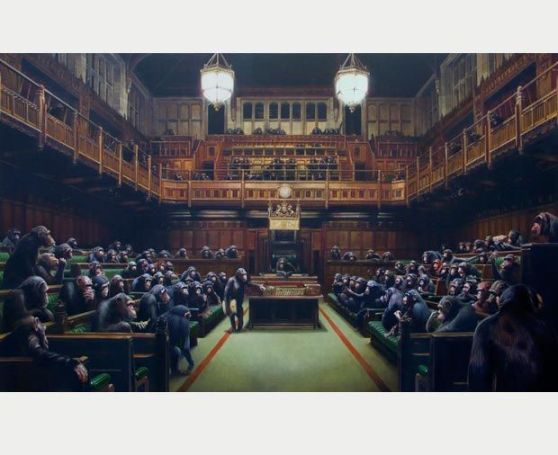 Banksy is Putting the MPs into Chimps
