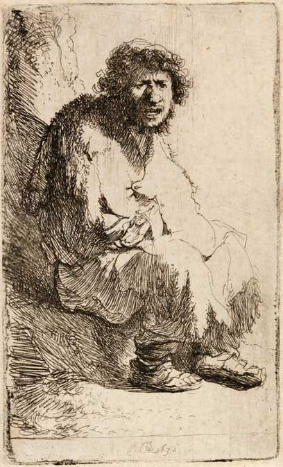 The Beggar by Rembrandt