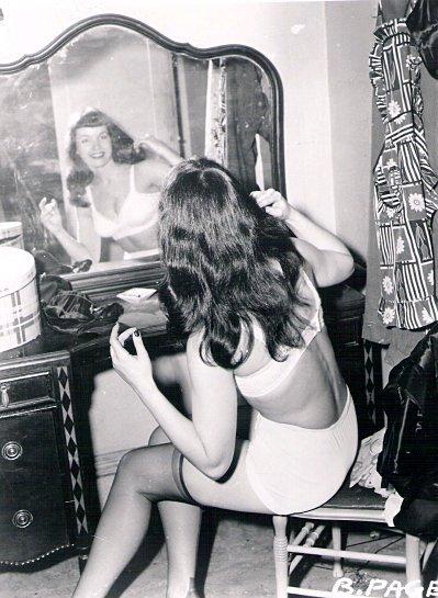 Bettie Page mirror mirror