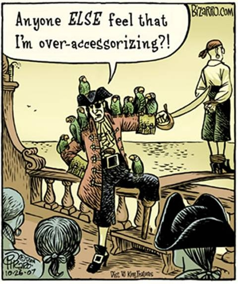 Pirates do tend to overaccessorize