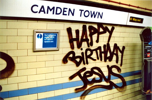 Happy Birthday Jesus from Camden Town