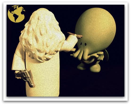 Cthulhu vs God ancient representation