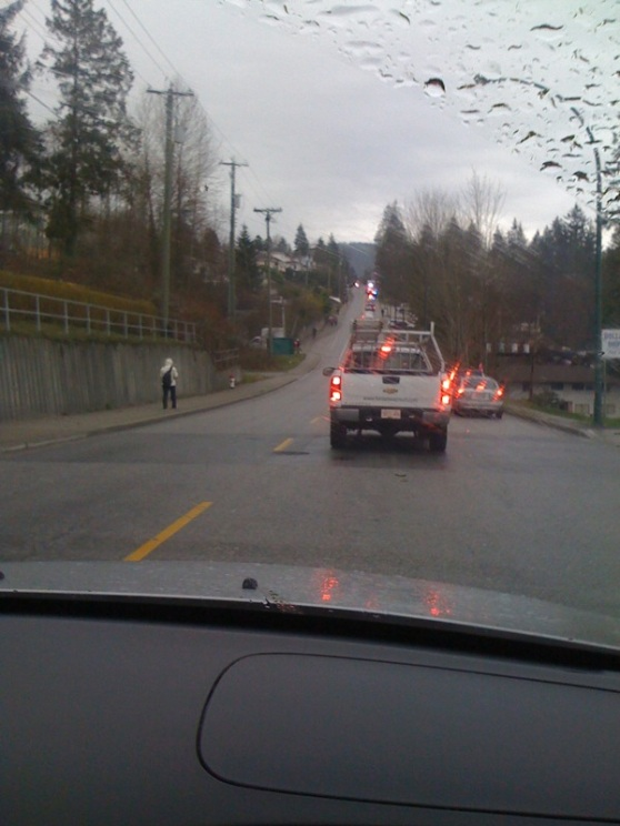 Olympic Torch Traffic Dollarton Highway North Vancouver
