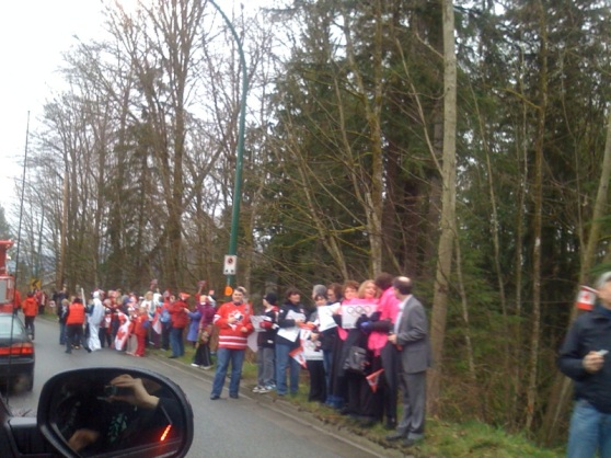 Olympic Torch Crowd in Dollarton, North Vancouver