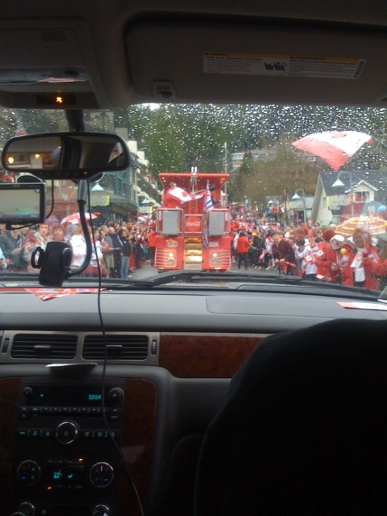 Deep Cove Crowd on Olympic Torch Route