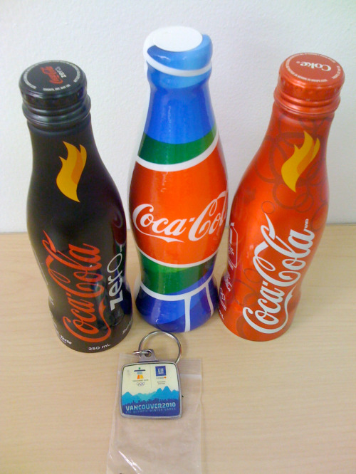 Olympic Torch Coke Bottles