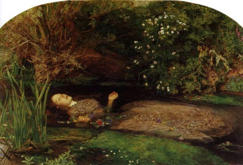 Ophelia by John Everett Millais demonstrates my idea of repose