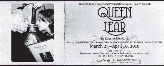 Queen Lear at Presentation House