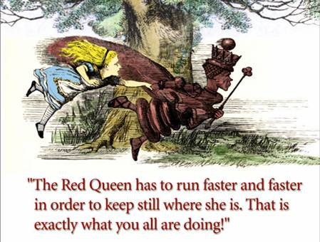 The Red Queen knows how this social media game works