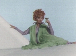 Endora enjoys Champagne mainly on the plane over Spain