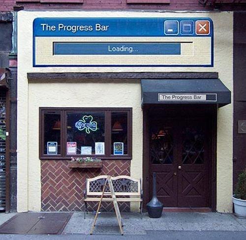 The Progress Bar, loading in progress