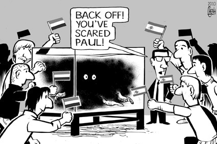 Paul the Octopus had his troubles with the paparazzi