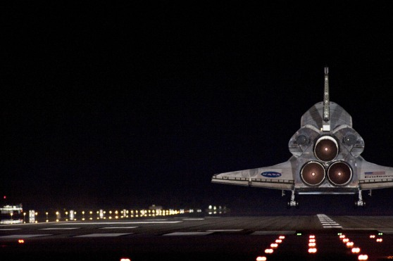 Twitpic of space shuttle landing