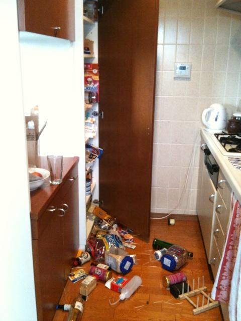 Japanese Earthquake kitchen