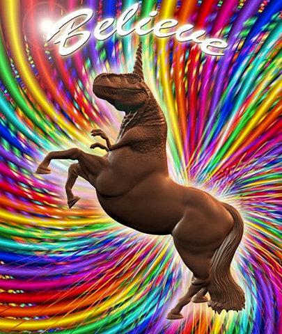 I believe in Godzillacorn!!! and Rainbows!!!