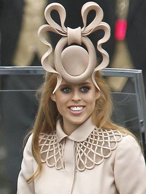 Princess Beatrice wearing her Royal Wedding Hat