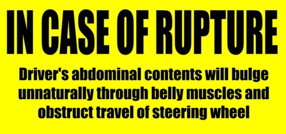 In case of rupture