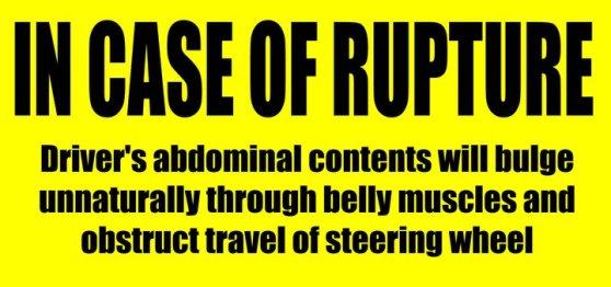 In case of rupture