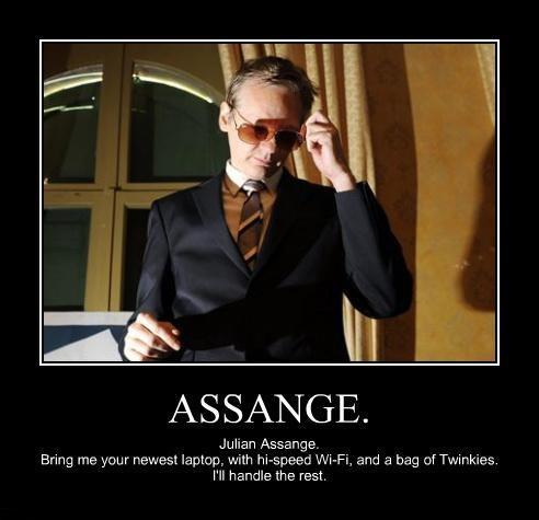 Assange wants TWINKIES no not TWINKS