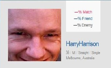 Harry Harrison on OK Cupid oh and Cupid is SO NOT OKAY with using a fake name