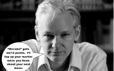Julian Assange plays strip scrabble with raincoaster. We ALL win!