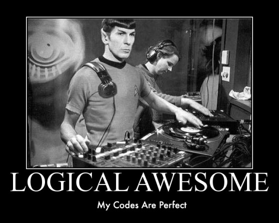 Spock is logical awesome. The internet, on the other hand, is Illogical Awesome.