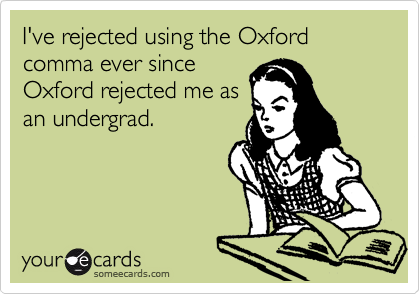 The Oxford, Comma