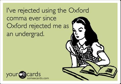The Oxford, Comma