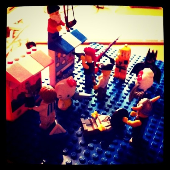 Vancouver Riots in Lego by Kimli