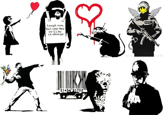 banksy is a little tatty It 39s like climbing into the Wayback Machine and