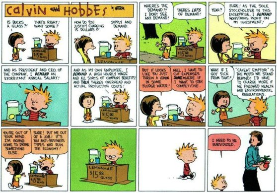Calvin and Hobbes on Occupy Wall Street