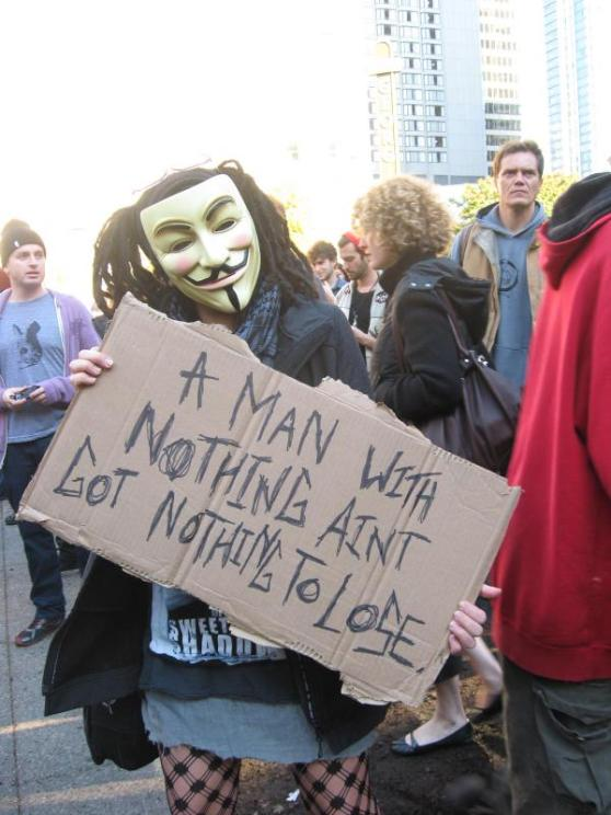 Anonymous Janis Joplin at Occupy Vancouver